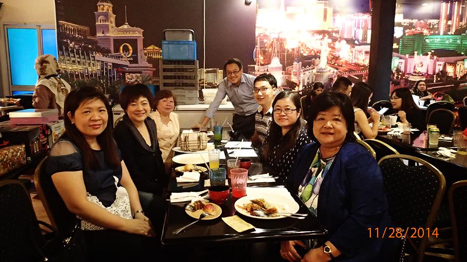 YEAR END DINNER – 28 NOVEMBER 2014